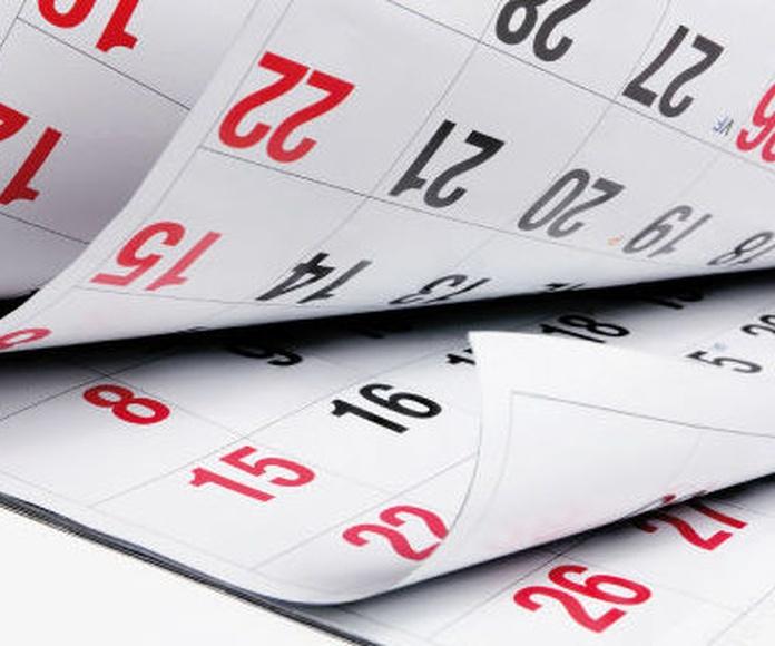 Impresión de calendarios Burgos