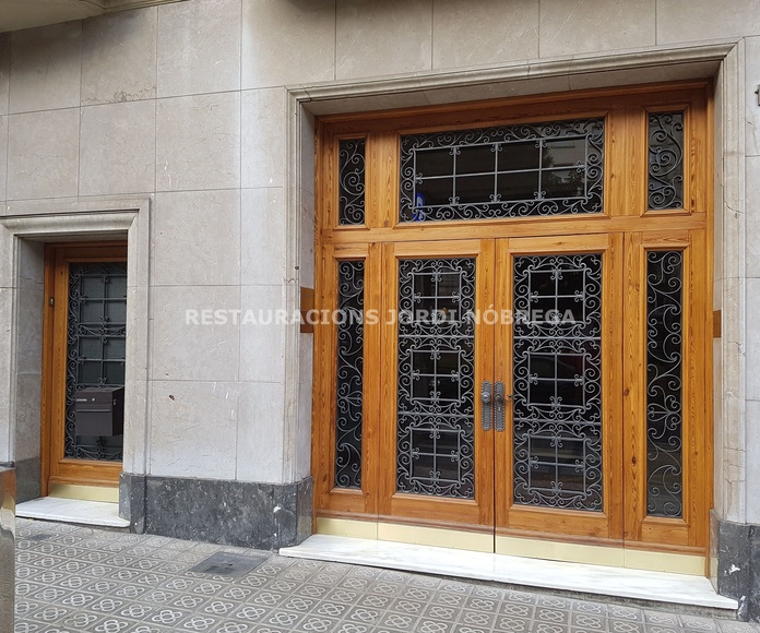 Trabajo terminado!. Restauración de porterías en Barcelona por Restauracions Jordi Nóbrega