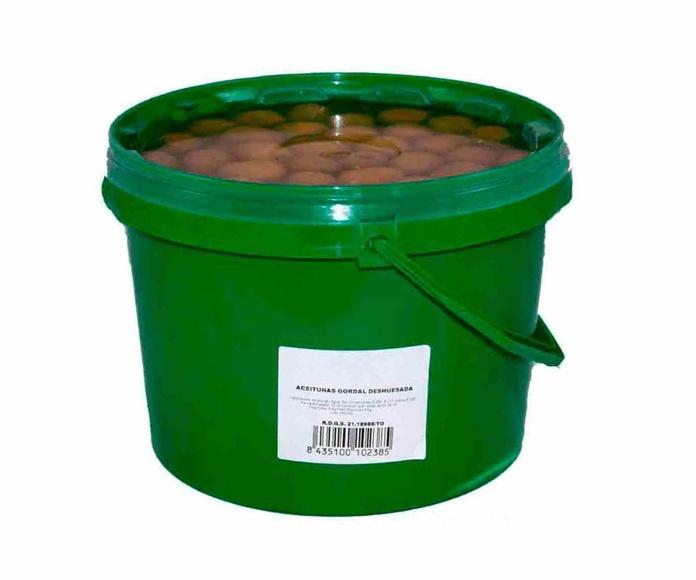 Aceitunas Gordal Deshuesada Cubo de 3 Kgs. Marca ELOVI
