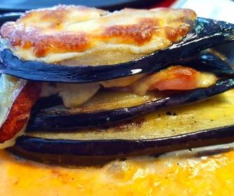 Berenjena a la parmesana: Carta de Bar Restaurante Doña Elena