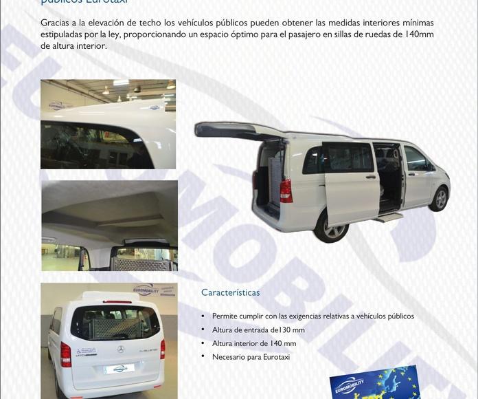 Elevación de techo Mercedes Benz clase V / Vito / Viano adaptación de vehículos Asturias