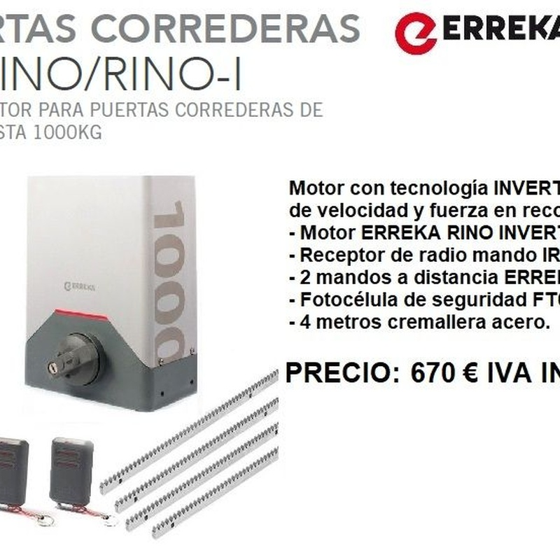 Kit Erreka Rino 1000: Servicios de Puertas automáticas Odiel