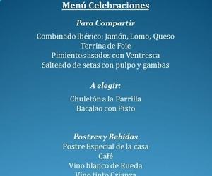 Menú Para Celebraciones 45 € , Comidas de Empresa, Cenas Familiares