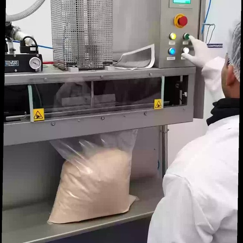 Envasado a terceros gran formato  con atmósfera modificada  de alimentos en polvo y grano