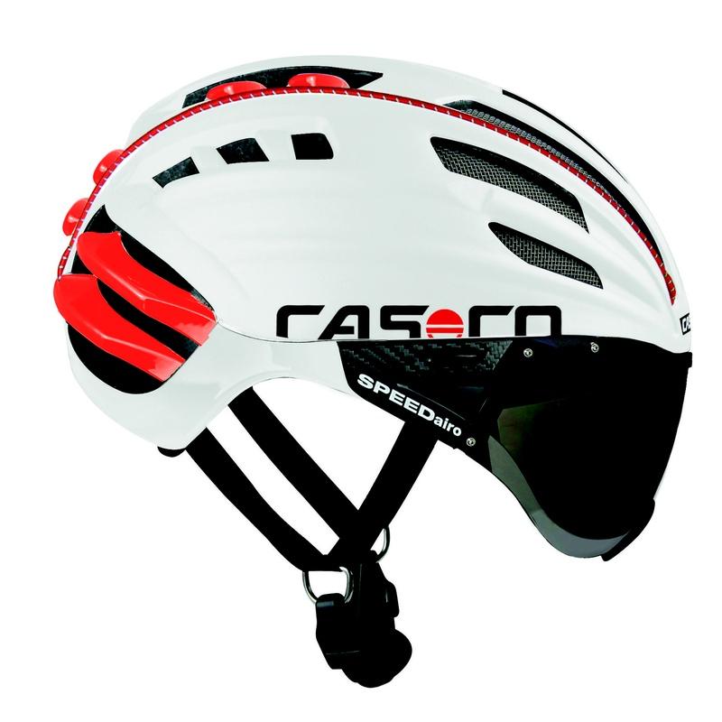 CASCO SPEEDAIRO BLANCO/ROJO TALLA M 54-59 cm C/VISOR: Productos de Bikes Head Store