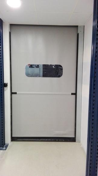 Puerta automática enrollable rápida eléctrica de lona y pvc