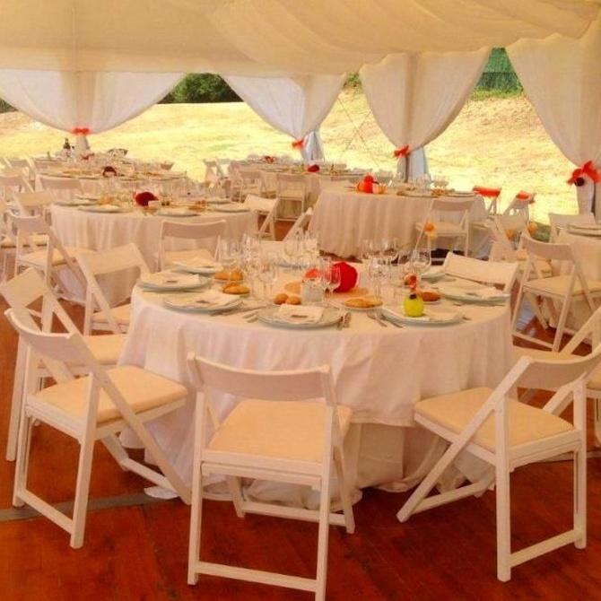 Las mesas ideales para una celebración al aire libre