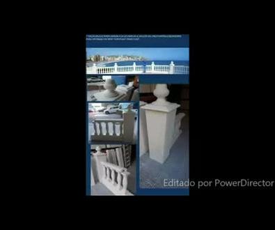 REPRODUCCION EN ESCAYOLA DE BALAUSTRADA SIMILAR A LA SITUADA EN BENIDORM Y COLMILLOS DE ELEFANTE