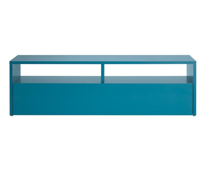 Mueble para tv modelo Box color turquesa - Camino a Casa