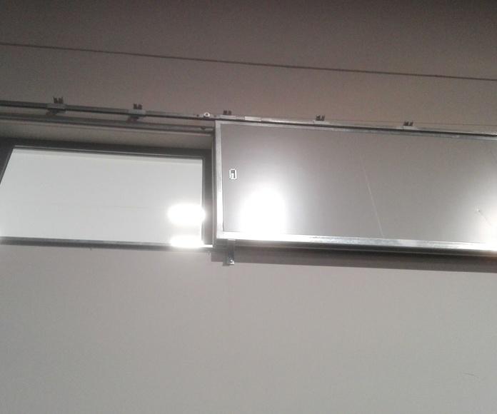 Puerta Corredera cortafuego tipo ventana peso en cola  EI2-60 Santander