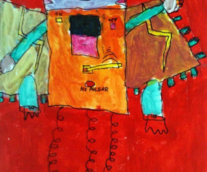 Acrílico y rotulador sobre papel. Ismael. 6 años.