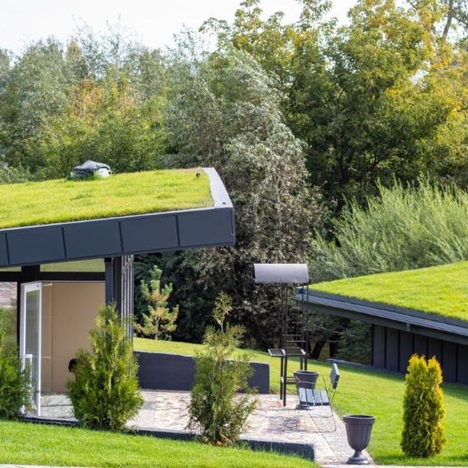 Césped artificial en los tejados