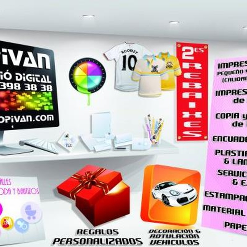 Vinilo decorativo: Catálogo de Copistería Copivan