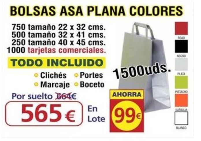 BOLSA ASA PLANA COLORES 1500UNDS: TIENDA ON LINE de Seriprint