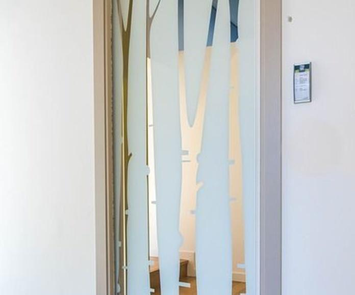 Puertas correderas de Vidrio: Servicios de Cristalería Bizkor Argi
