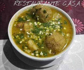 Celebraciones: Carta de Restaurante Casa Elías