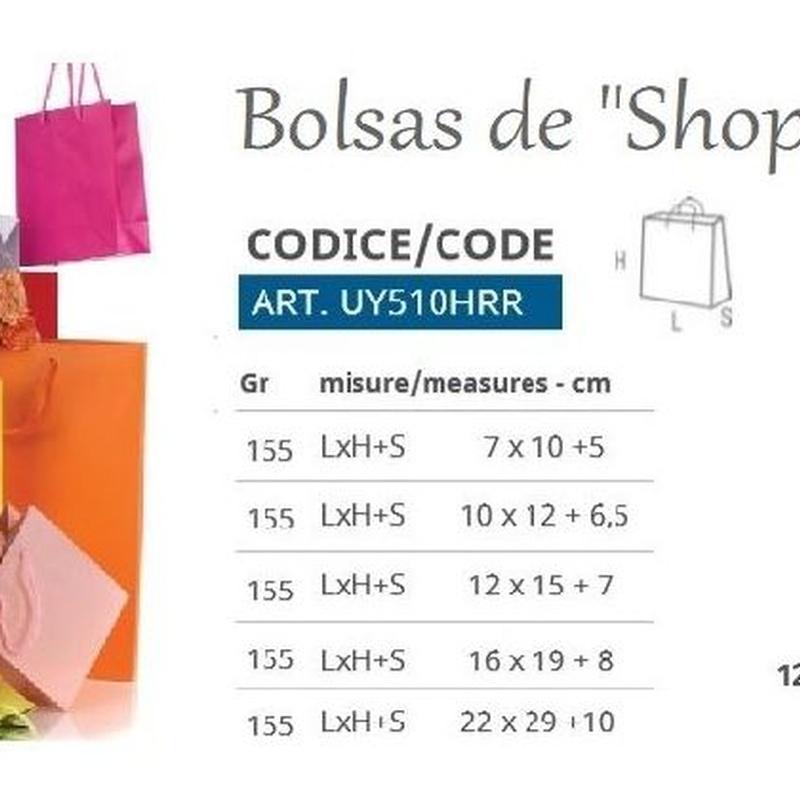 PQTE x12 BOLSAS DE PAPEL COL. ROJO REF:  UY510HRR 04NRO MEDIDAS://(1).- (7 x 10 +5CM) PRECIO: 3,00€// (2).- (10 x 12 + 6,5CM) PRECIO: 3,00€ //(3).- (12 x 15 + 7CM) PRECIO: 4,20€ // (4).- (16 x 19 + 8CM) PRECIO: 4,80€// (5).- (22 x 29 +10CM) PRECIO: 7,20€