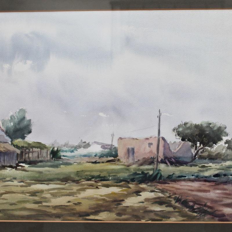 Acuarela original de Jonás Navarro, 1989: Artículos  de Ruzafa Vintage