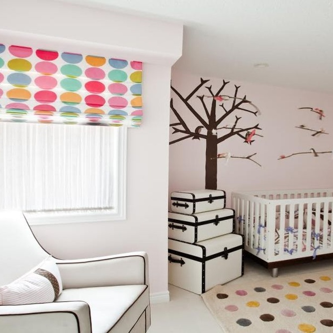 El color de los estores en las habitaciones infantiles
