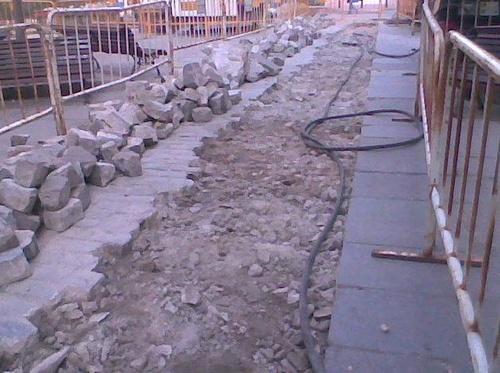 Obras de Renovación de Red para El Canal de Isabel II en Madrid