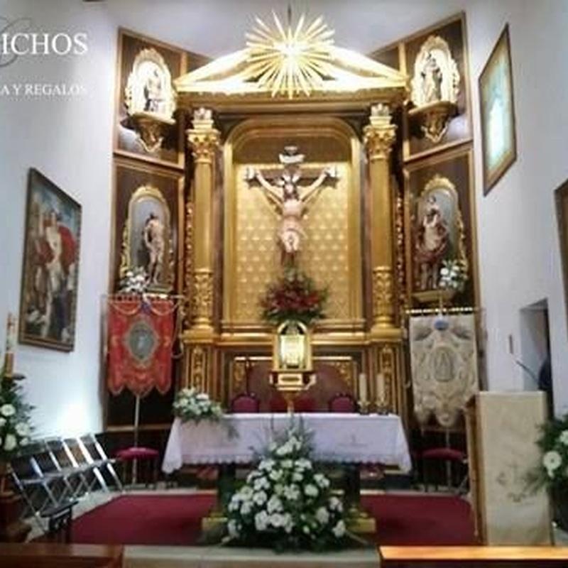Decoración iglesia y fincas: TIENDA ONLINE Y CATÁLOGO de Floristería y Regalos Caprichos Parla