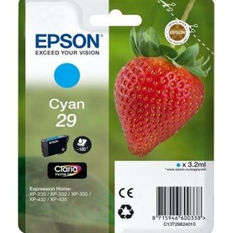 EPSON Cartucho T2982 Cian XP235/332/432 : Productos y Servicios of Stylepc