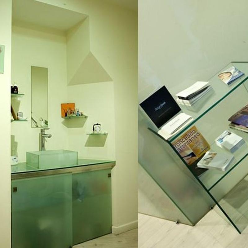 Mueble auxiliar en vidrio: Productos y servicios  de Cristalería eki