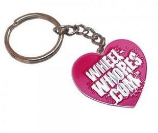 Llavero rosa wheel whores