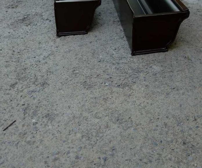 instalación de canalones de aluminio