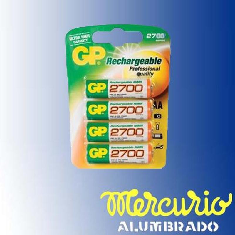 Pilas recargables: Productos de Mercurio Alumbrado