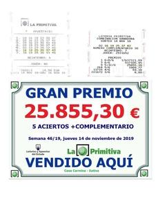 INCREIBLE OTRO PREMIO EN CASA CARMINA EN LA LOTERIA PRIMITIVA DE 25.855,30€