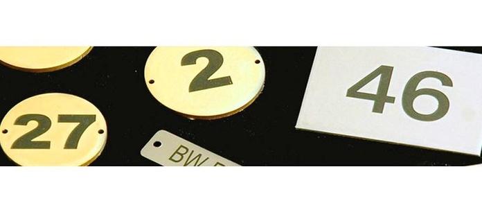 Placas numeradas : Productos de Novoplac