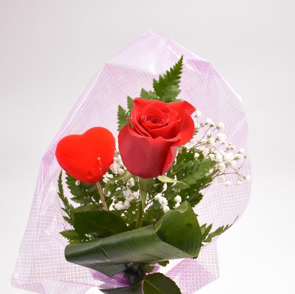 Jarrón 1 rosa y paniculata:  de Floristería Contreras