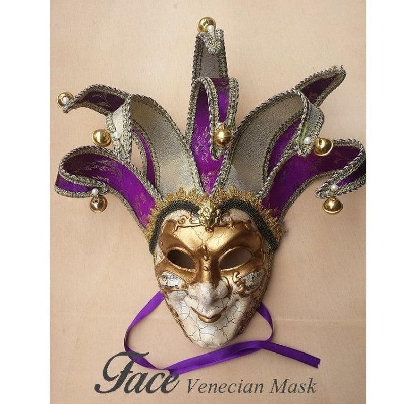 Máscaras pintadas a mano Arlequín: Máscaras y antifaces de Face Venecian Mask
