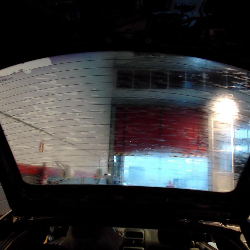 Visión de lámina defectuosa vista desde el interior