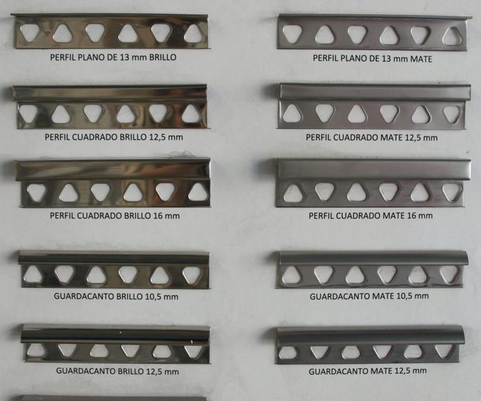 Perfiles de acero inoxidable: Productos y servicios de Depoceramic