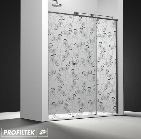 Mampara de baño Profiltek serie Steel ST-211 Light decoración clasik