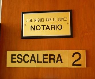 Número 6. Depósitos, salidas y otros: Aranceles de Notario José Miguel Avello