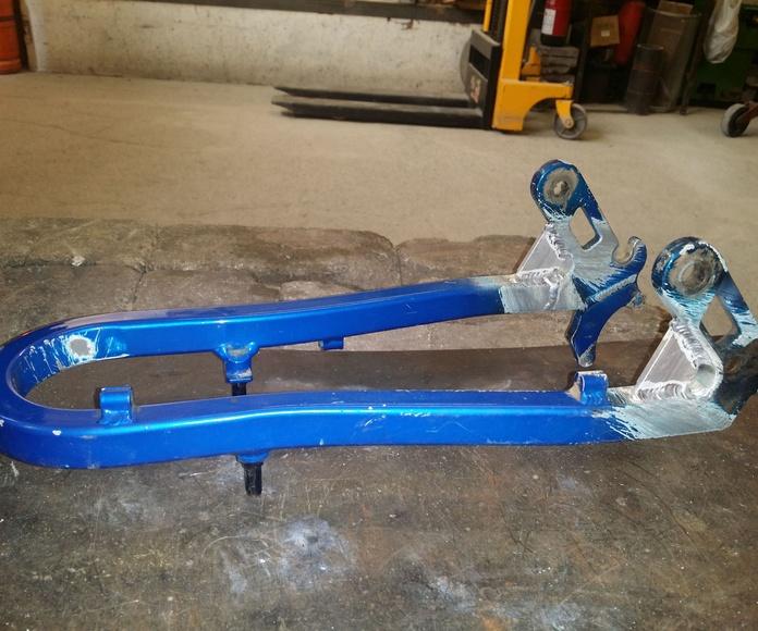 modificación basculante suspension bicicleta de montaña