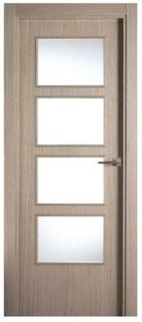 Cristalera para puertas grises macizas.
