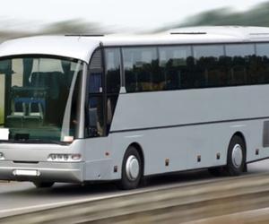 En autobús en el viaje de fin de curso