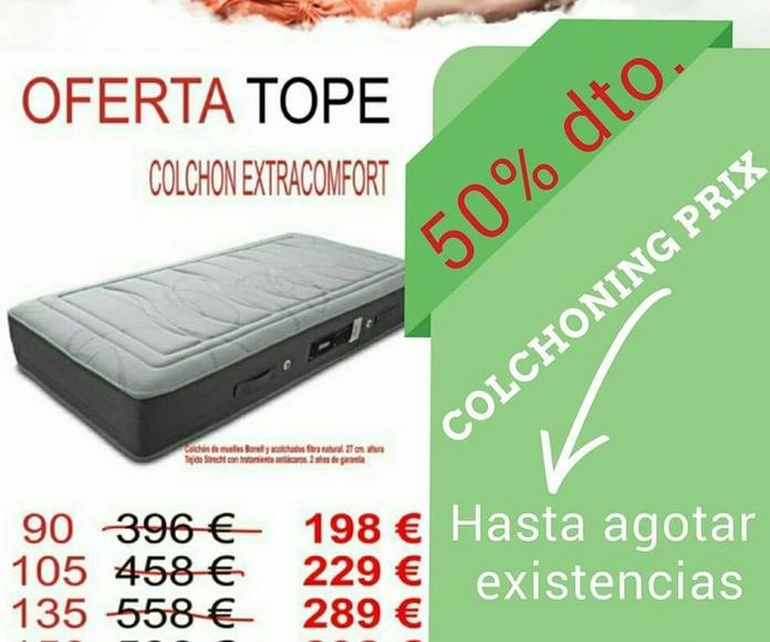 EV Colchonerías: Colchón Extraconfort 50% DTO.