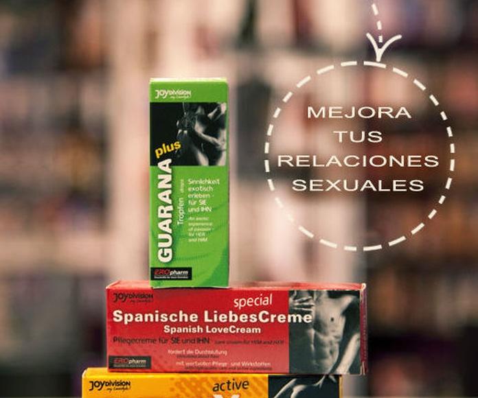 Potenciadores y Estimulantes sexuales