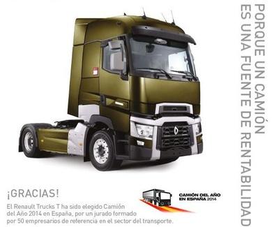 ¡Renault Trucks T camión del año 2014 en España!