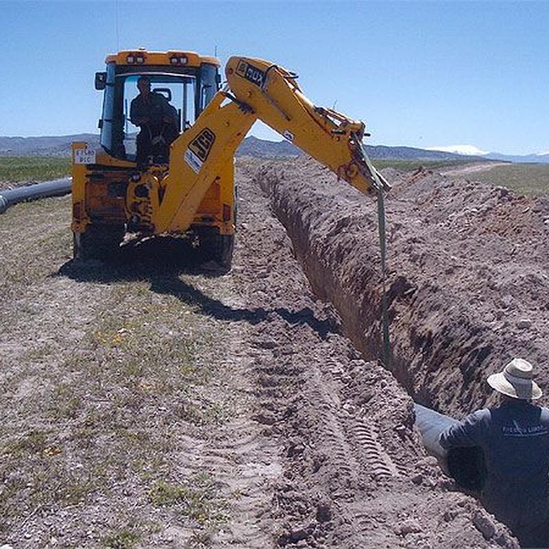 Instalación de tuberías: Servicios de Riegos Lebor