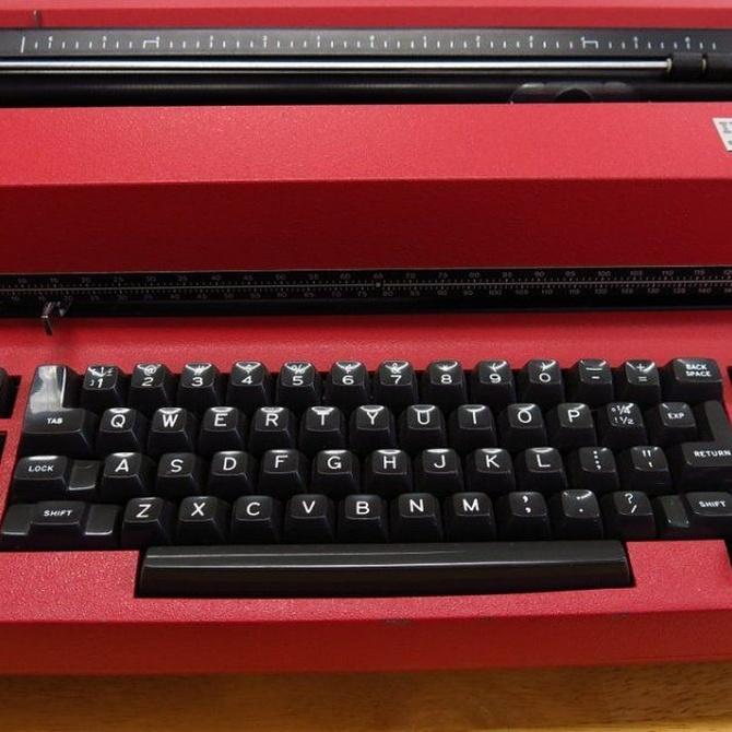 Escribir como antes con una máquina de escribir
