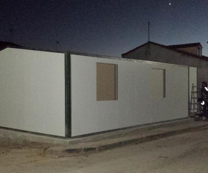 Montaje Vivienda ECO en Brazacorta-Burgos (diciembre-13)