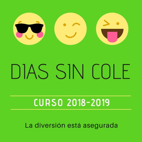 DIAS SIN COLE CURSO 2018 -2019
