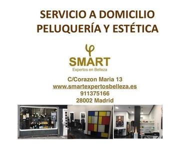 servicio a domicilio peluquería y estética SMART expertos belleza