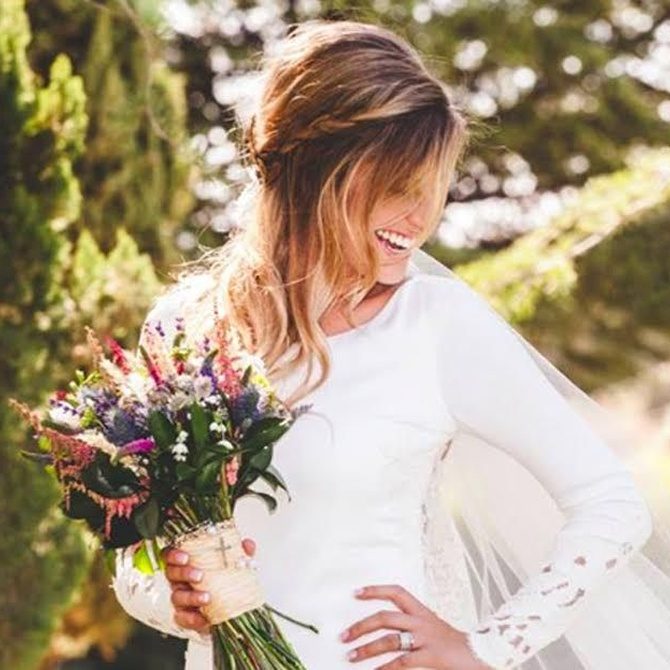 ¿Qué peinado encaja con mi vestido de novia?